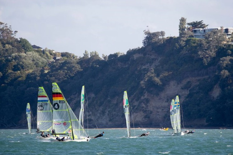 Germans start well as weather disrupts day one of 49er, 49erFX and Nacra 17 World Championships