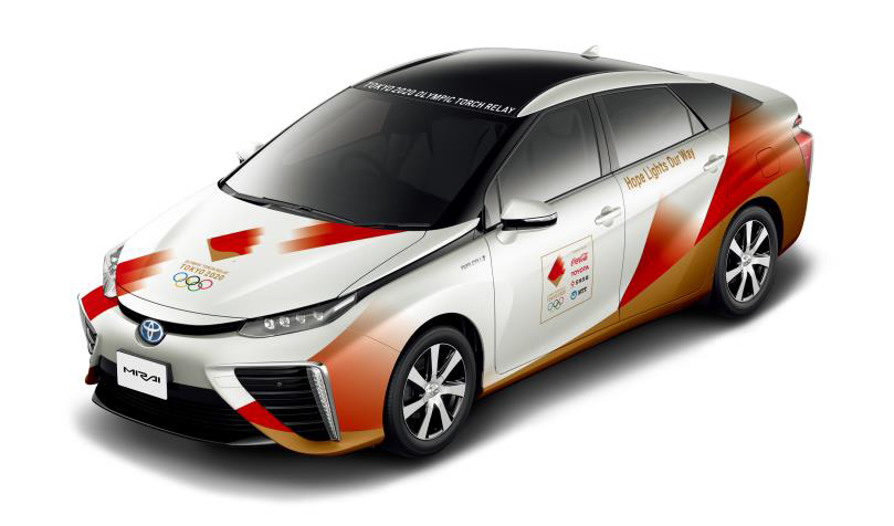 Tokyo 2020 reveal design of Olympic Torch Relay convoy