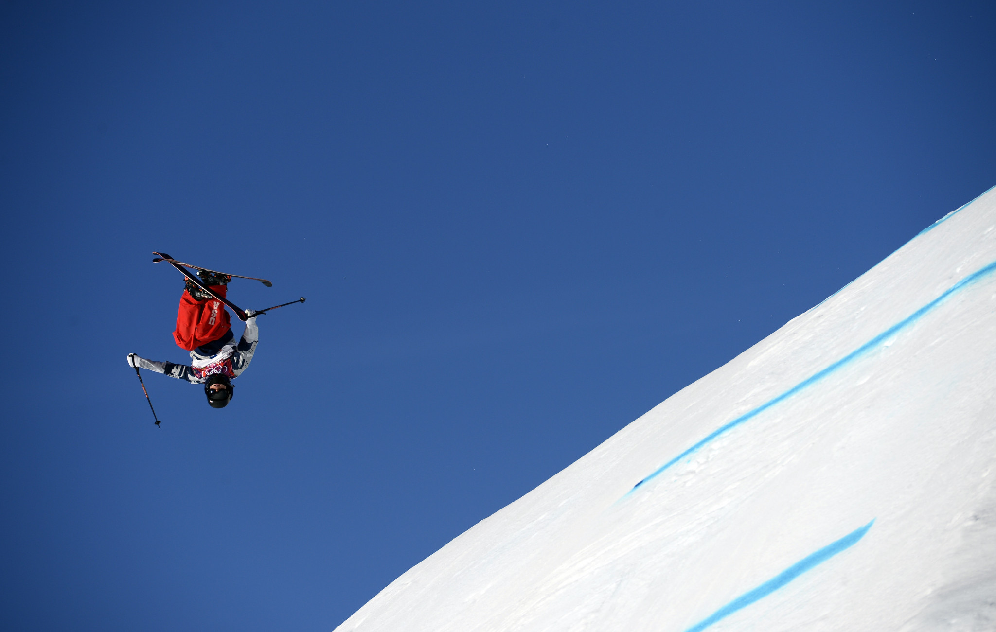 Gus Kenworthy won the men's slopestyle silver medal at the Sochi 2014 Winter Olympic Games ©Getty Images