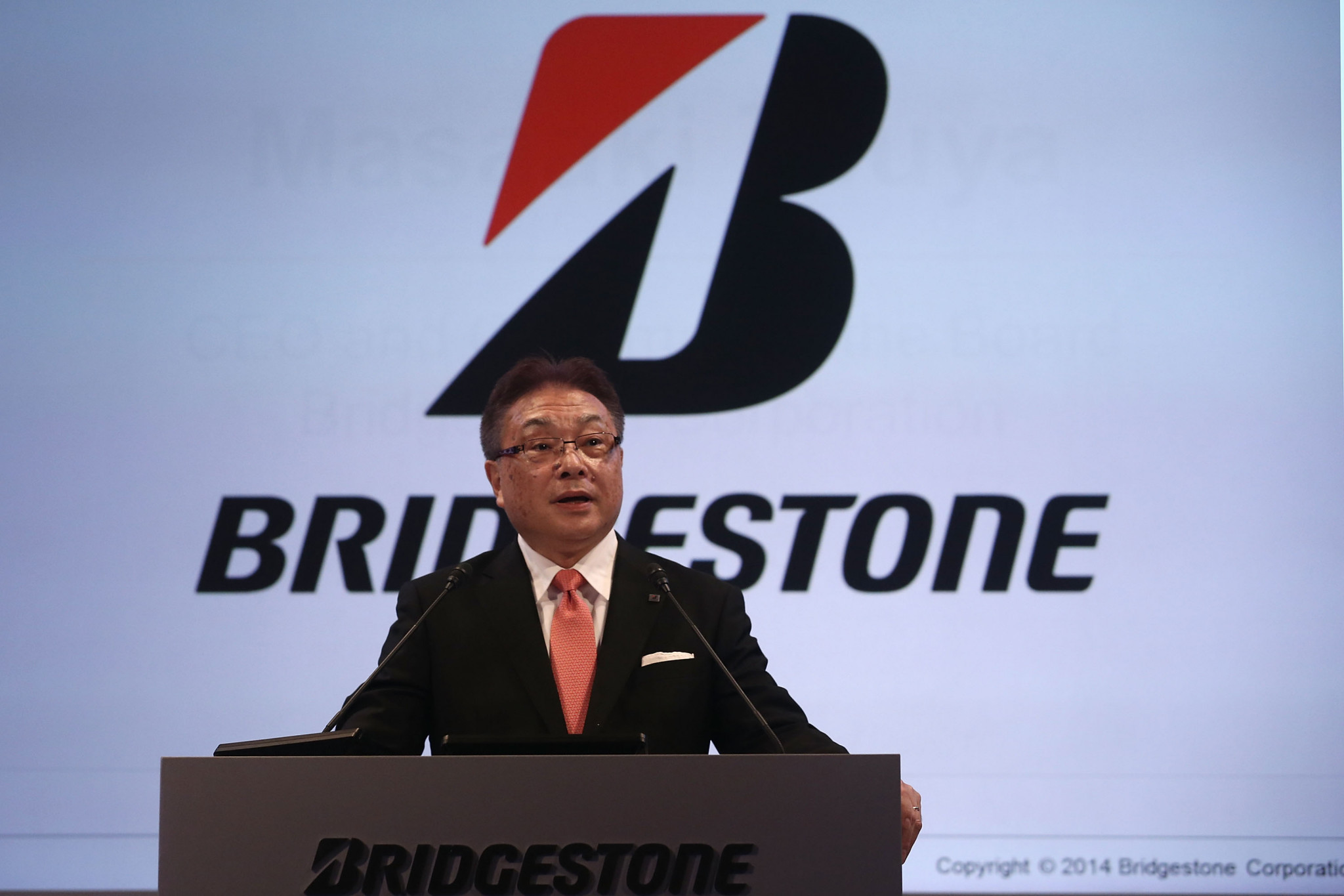 Masaaki Tsuya, chairman of the Board, chief executive and representative executive officer at Bridgestone Corporation, says Bridgestone Innovation Park will be the cornerstone of the company's next chapter ©Getty Images