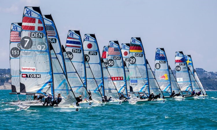 Three classes are contesting their World Championships in New Zealand ©49er Class