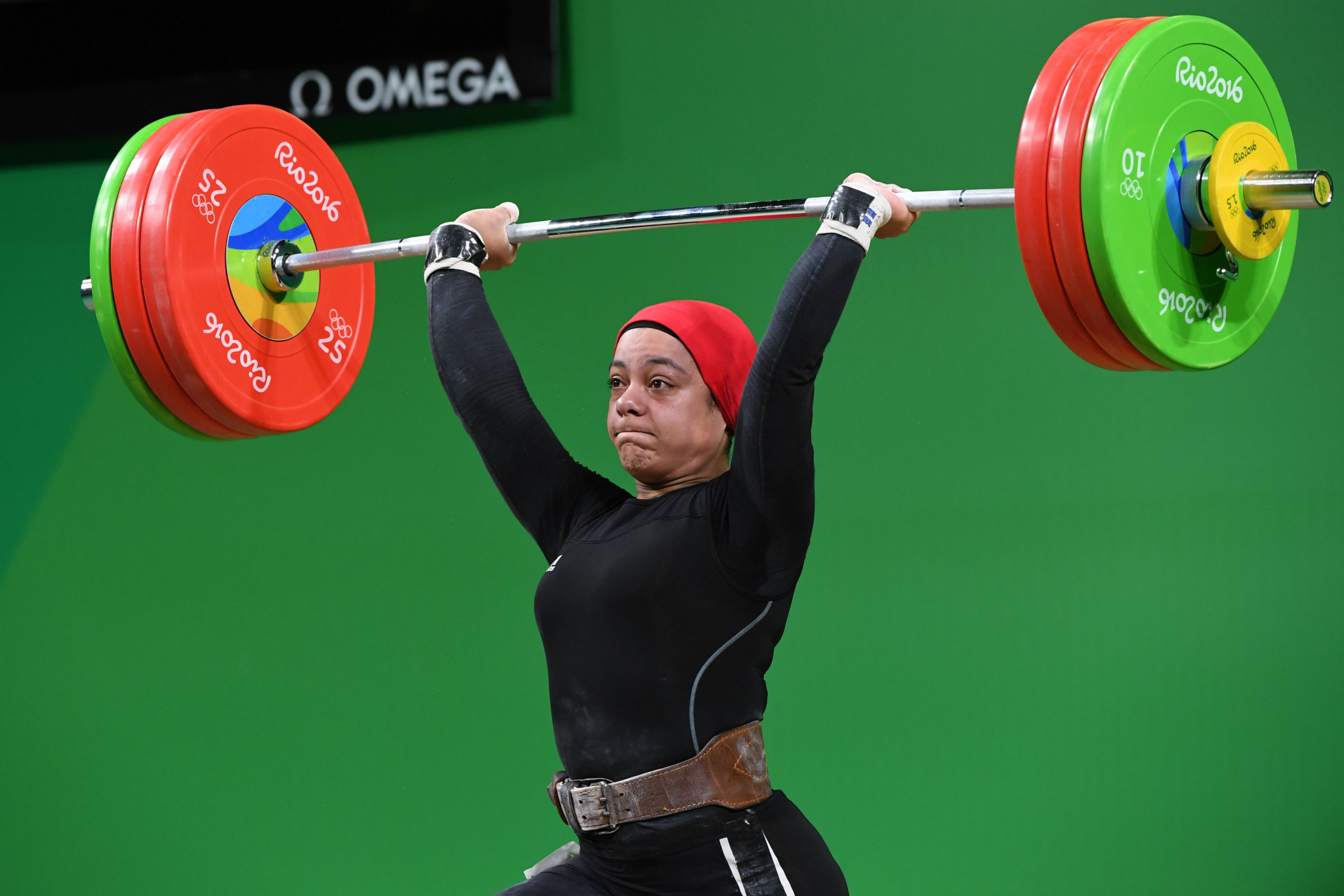 Egypt's Sara Ahmed is having to pay a heavy price for her country's doping ban ©Getty Images