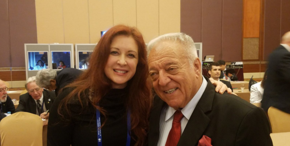 Ursula Papandrea and Tamás Aján are key figures in the sport ©IWF