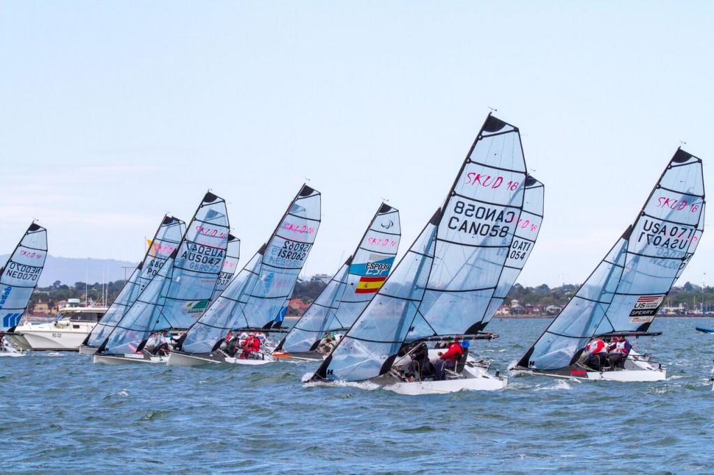 Pair of victories for Australian crew as weather plays havoc at Para World Sailing Championships