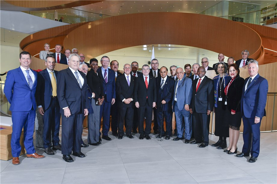 IOC and International Volleyball Federation hold joint meeting at Olympic House