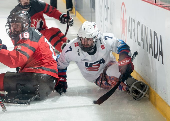 US down Canada to top preliminary round standings at Para Hockey Cup
