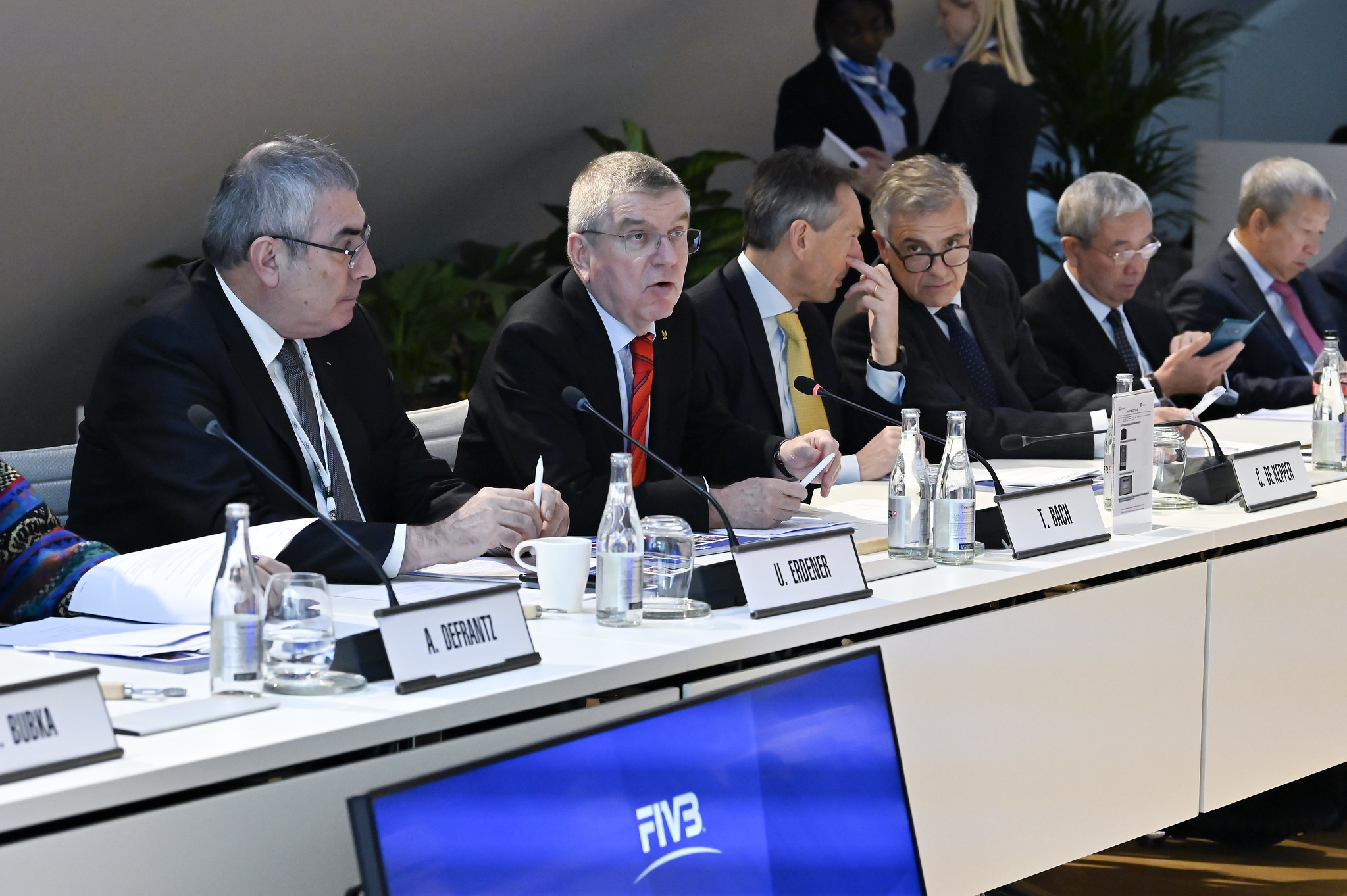 IOC President Thomas Bach praised the FIVB during the joint meeting ©FIVB