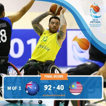 Australia, Iran and South Korea qualify for Tokyo 2020 after reaching semi-finals at IWBF Asia Oceania Championships