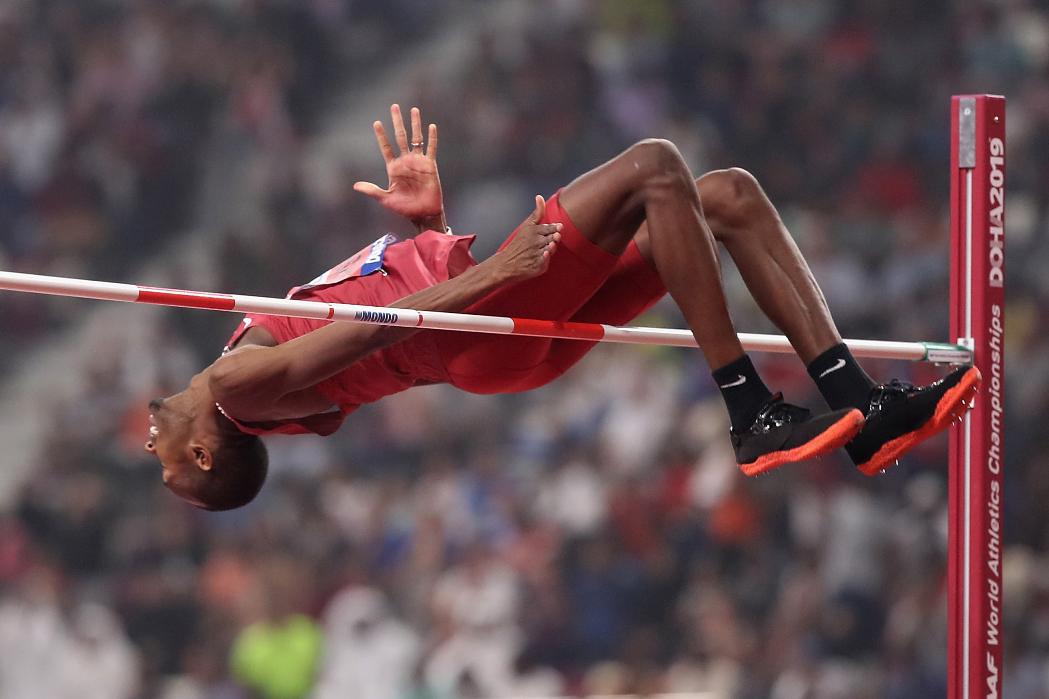 Qatar's two-time world high jump champion Mutaz Essa Barshim is among the 30 candidates for election to the Commission ©Getty Images