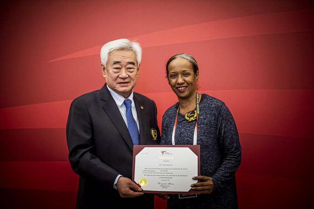 Aïcha Garad Ali of Djibouti was appointed as World Taekwondo's first female vice-president ©World Taekwondo