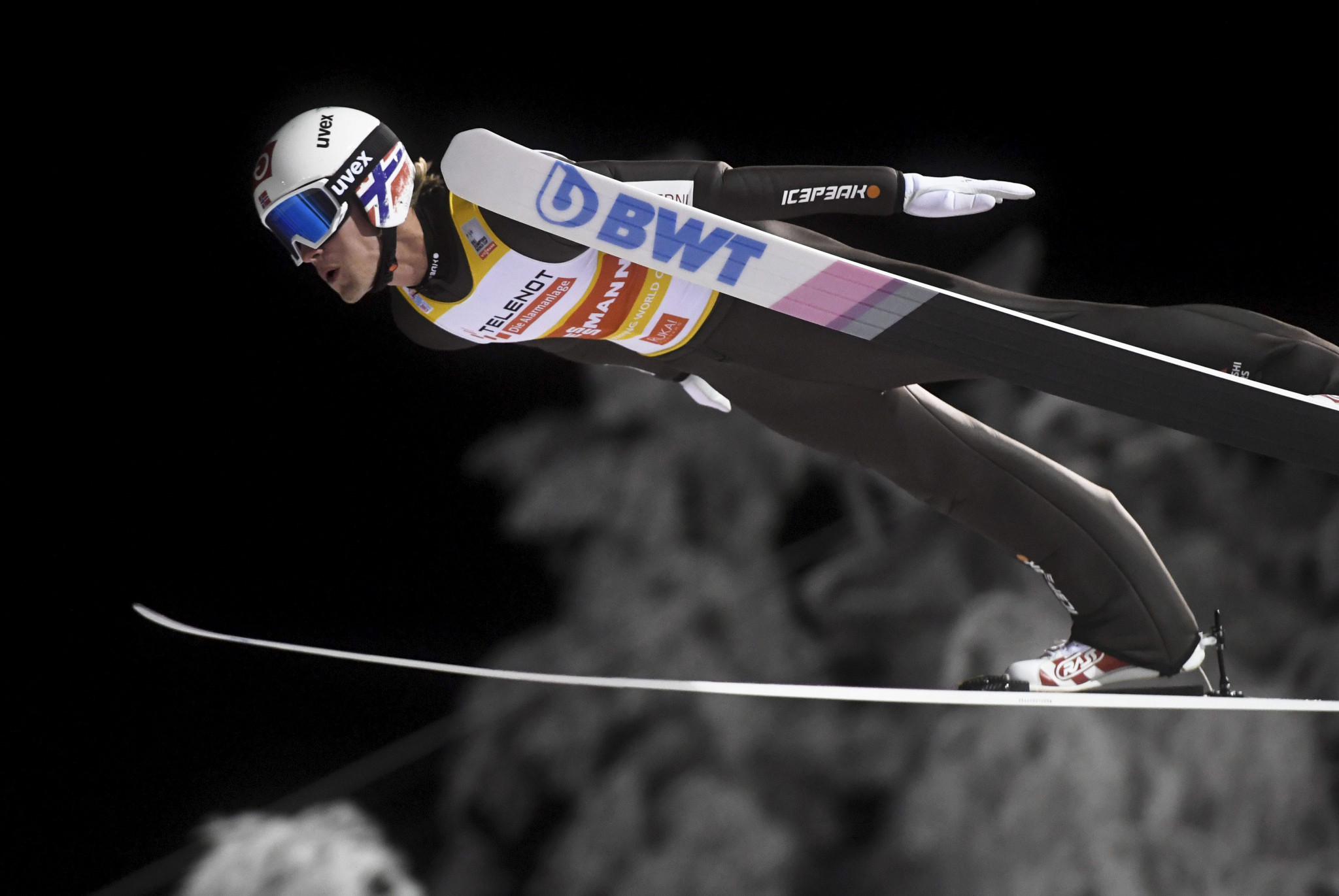 Norway's Daniel-André Tande leads the overall standings in the FIS Men's Ski Jumping World Cup ©Getty Images