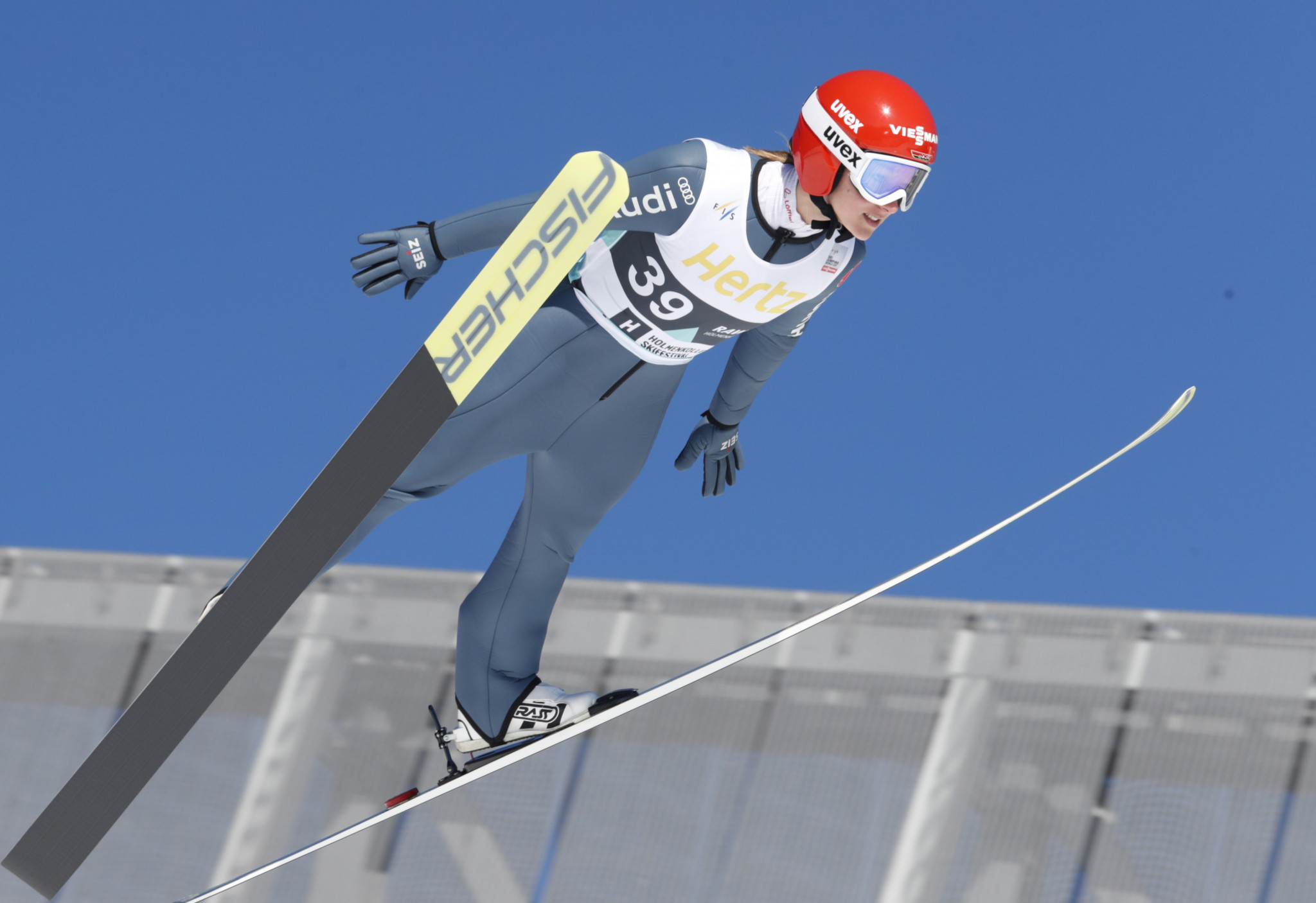 Katharina Althaus is expected to be a main contender at the FIS Ski Jumping World Cup event in Lillehammer ©Getty Images