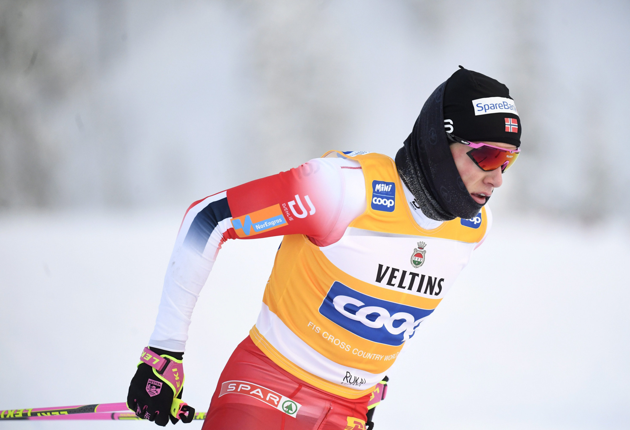 Johannes Høsflot Klæbo of Norway is aiming for a home victory at the FIS Cross-Country World Cup event in Lillehammer ©Getty Images
