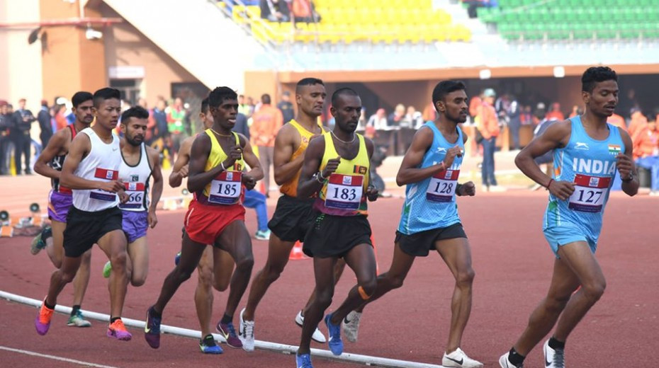 Sri Lanka triumphed in the men's 4x100m relay ©South Asian Games
