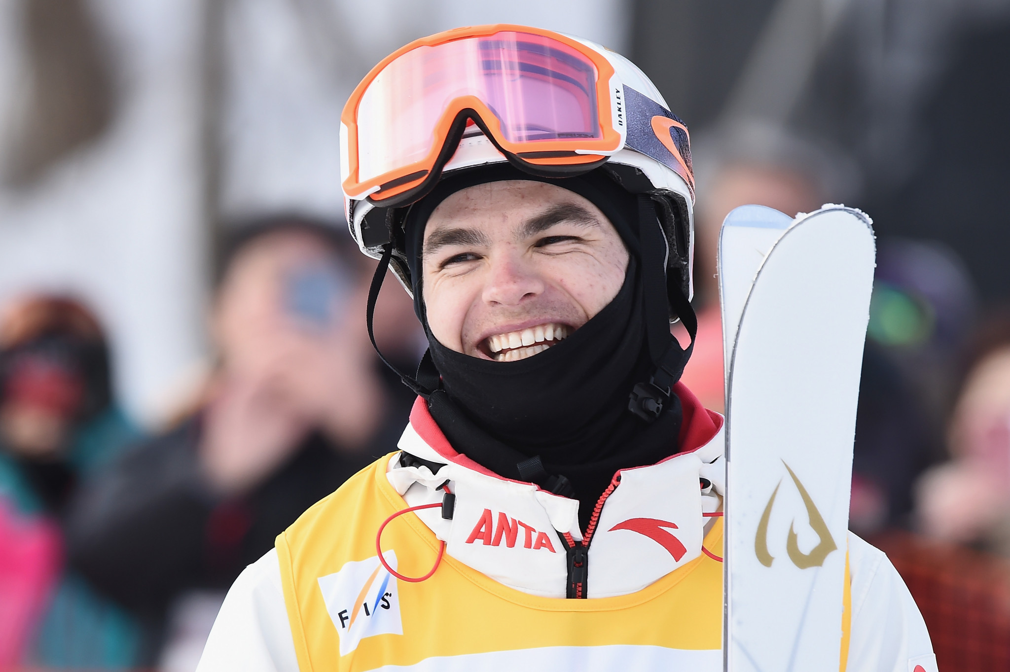 Mikaël Kingsbury of Canada is set to record his 100th FIS Freestyle Ski World Cup appearance ©Getty Images