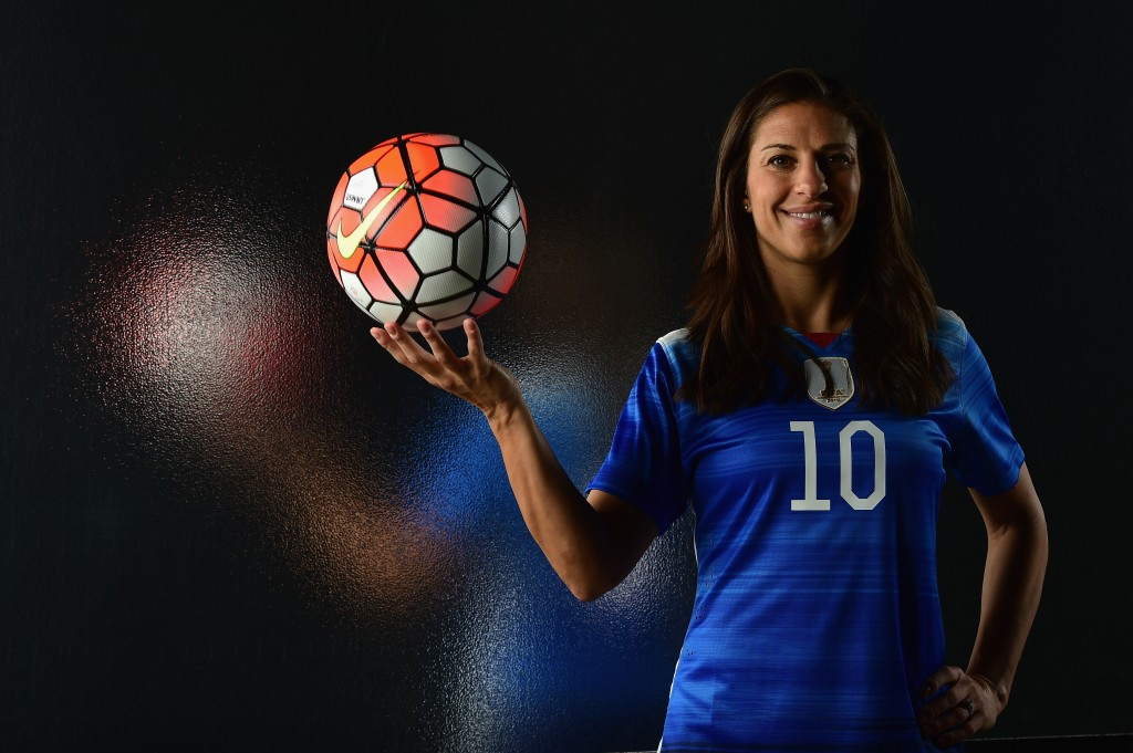 American Carli Lloyd is one of three players in the frame for the FIFA Women's World Player of the Year award