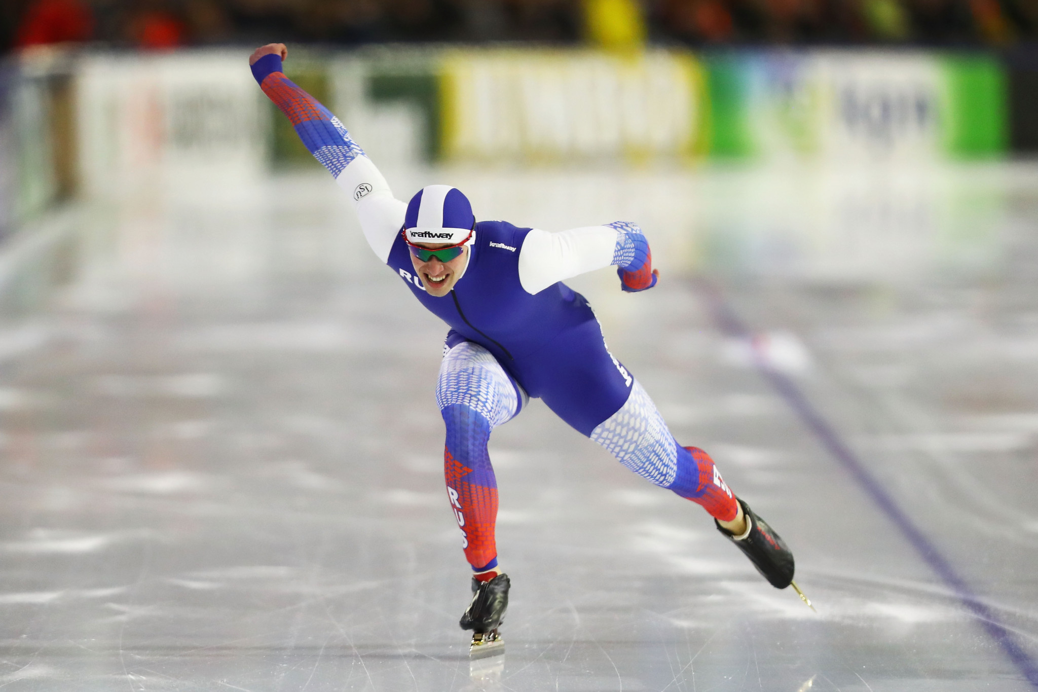Russia's Viktor Mushtakov was among the winners on day one of the ISU Speed Skating World Cup in Nur-Sultan ©Getty Images