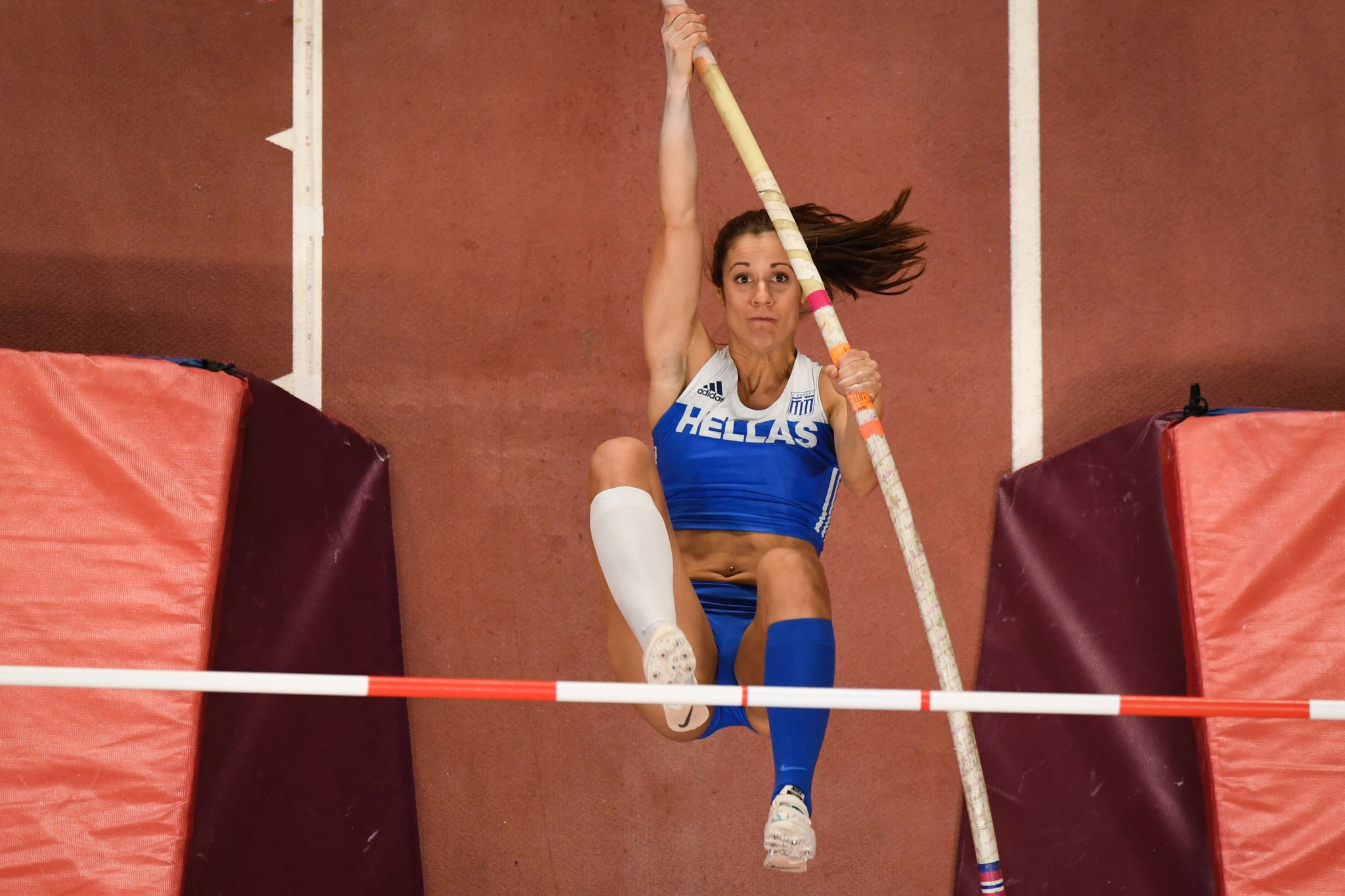 Greek pole vaulting star Katerina Stefanidi called on athletes to make the right decision during the vote ©Getty Images