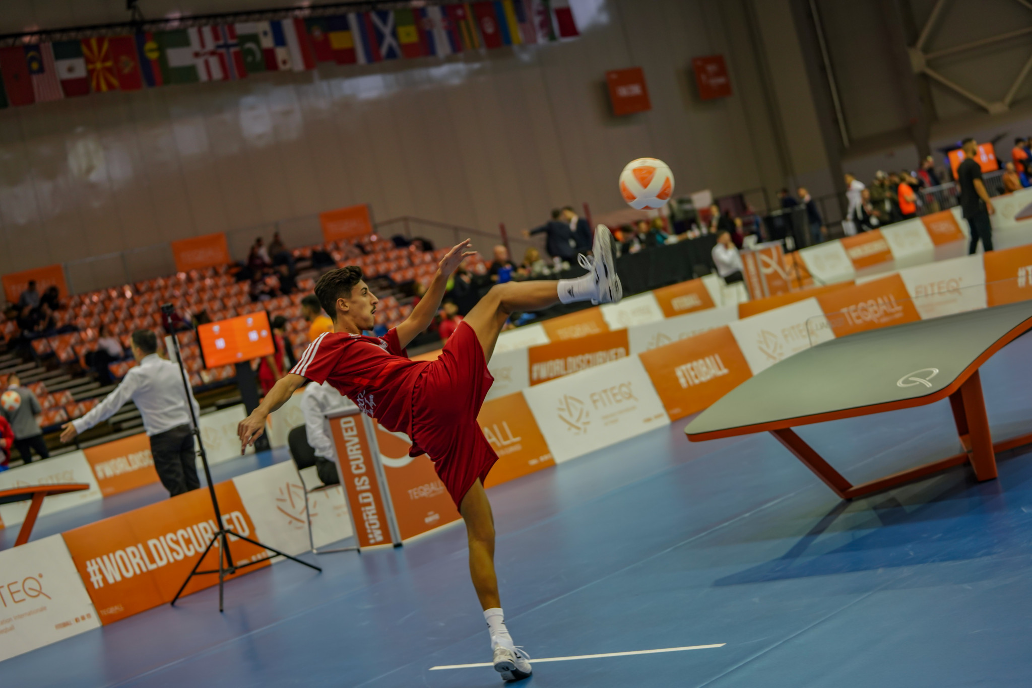 Competition at the Teqball World Championships continue tomorrow with the knockout stages ©FITEQ
