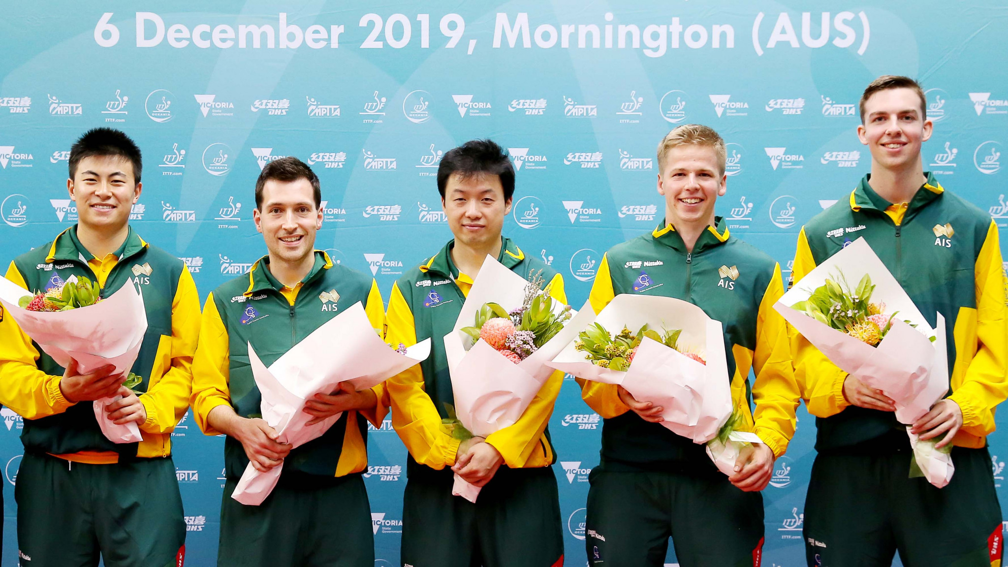 The Australian men's team did not lose a game at the ITTF Oceania Tokyo 2020 team qualification tournament ©ITTF