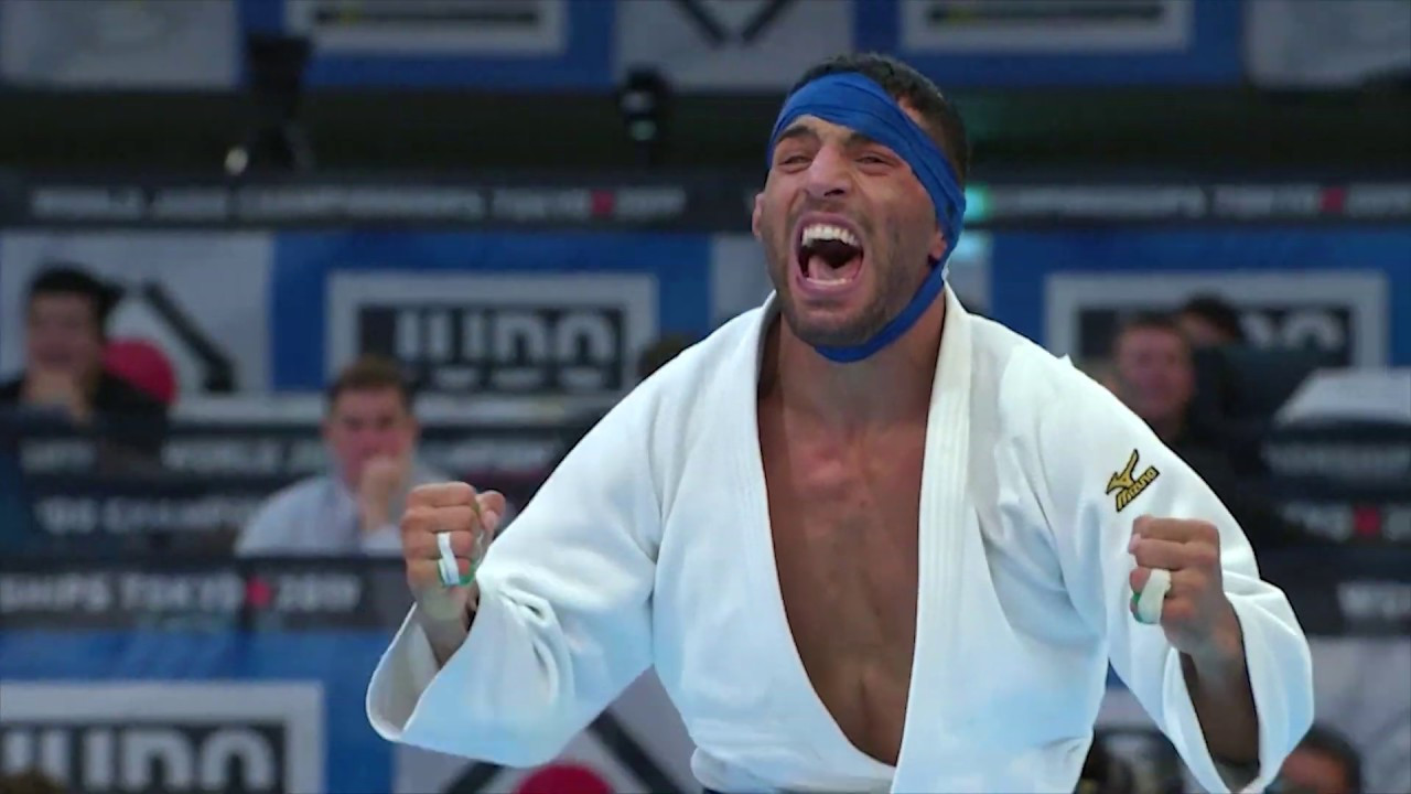 Iran's National Olympic Committee President Reza Salehi Amiri has been accused of applying pressure to Saeid Mollaei, pictured, not to fight a rival from Israel at this year's World Judo Championships in Tokyo ©YouTube