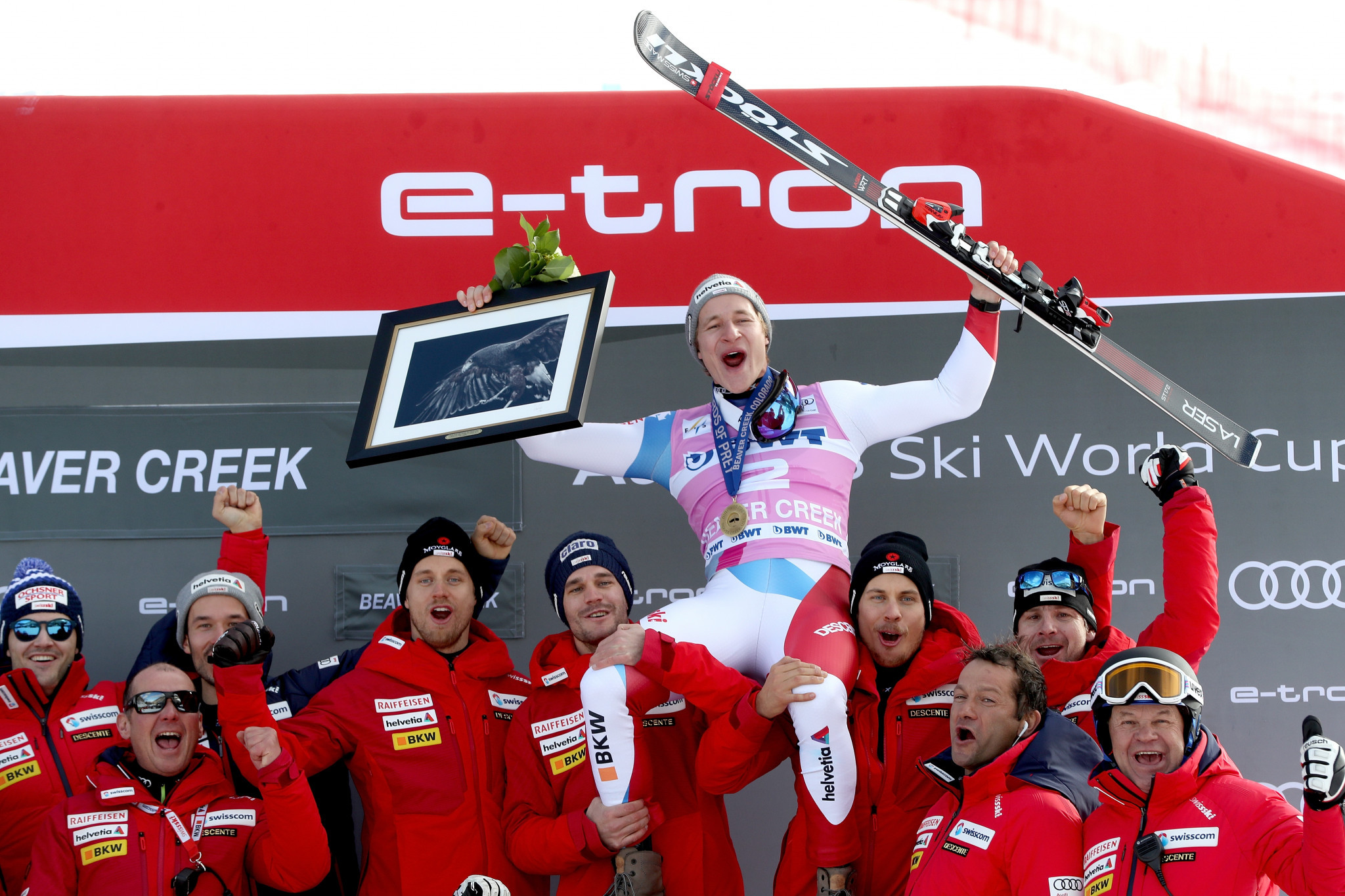Marco Odermatt of Switzerland earned his first FIS Alpine Ski World Cup title in Beaver Creek ©Getty Images