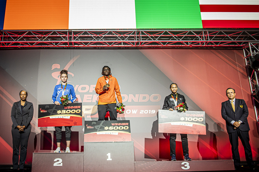 Ruth Gbagbi from Ivory Coast won the women's under-67kg final in Moscow ©World Taekwondo