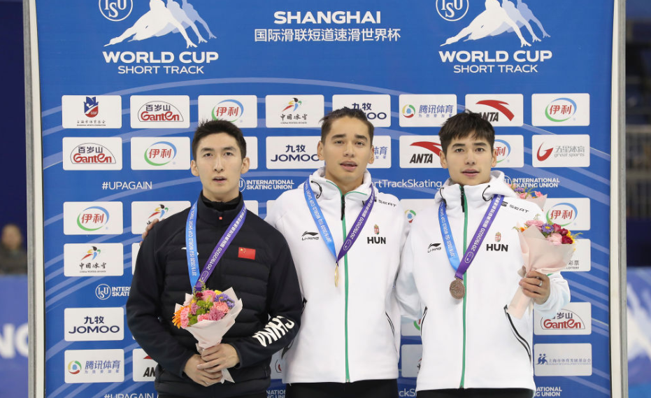 Hungary's Liu pulls off shock 500m win at ISU Short Track World Cup