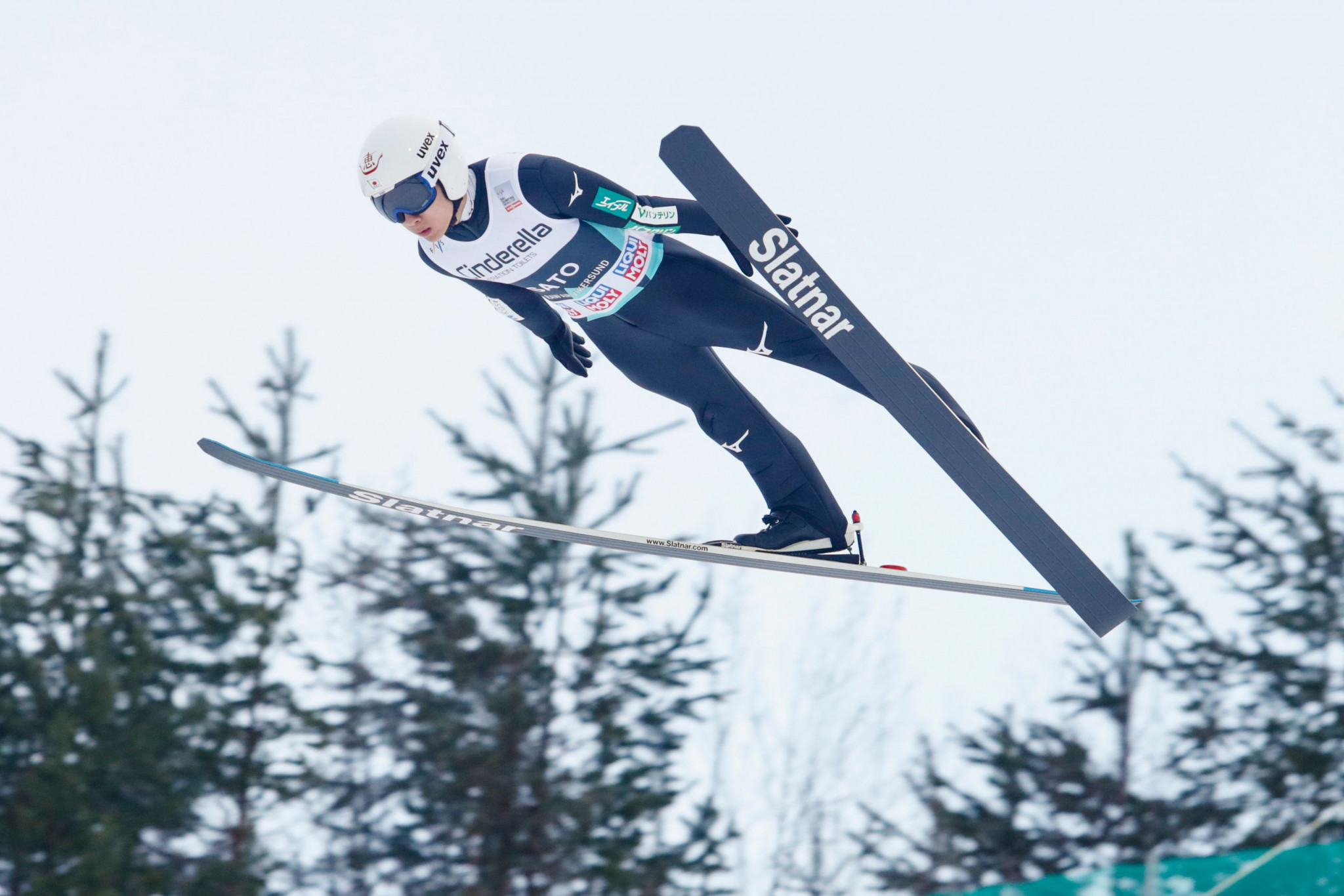 Yukiya Sato of Japan claimed victory at the FIS Men's Ski Jumping World Cup in Nizhny Tagil ©Getty Images
