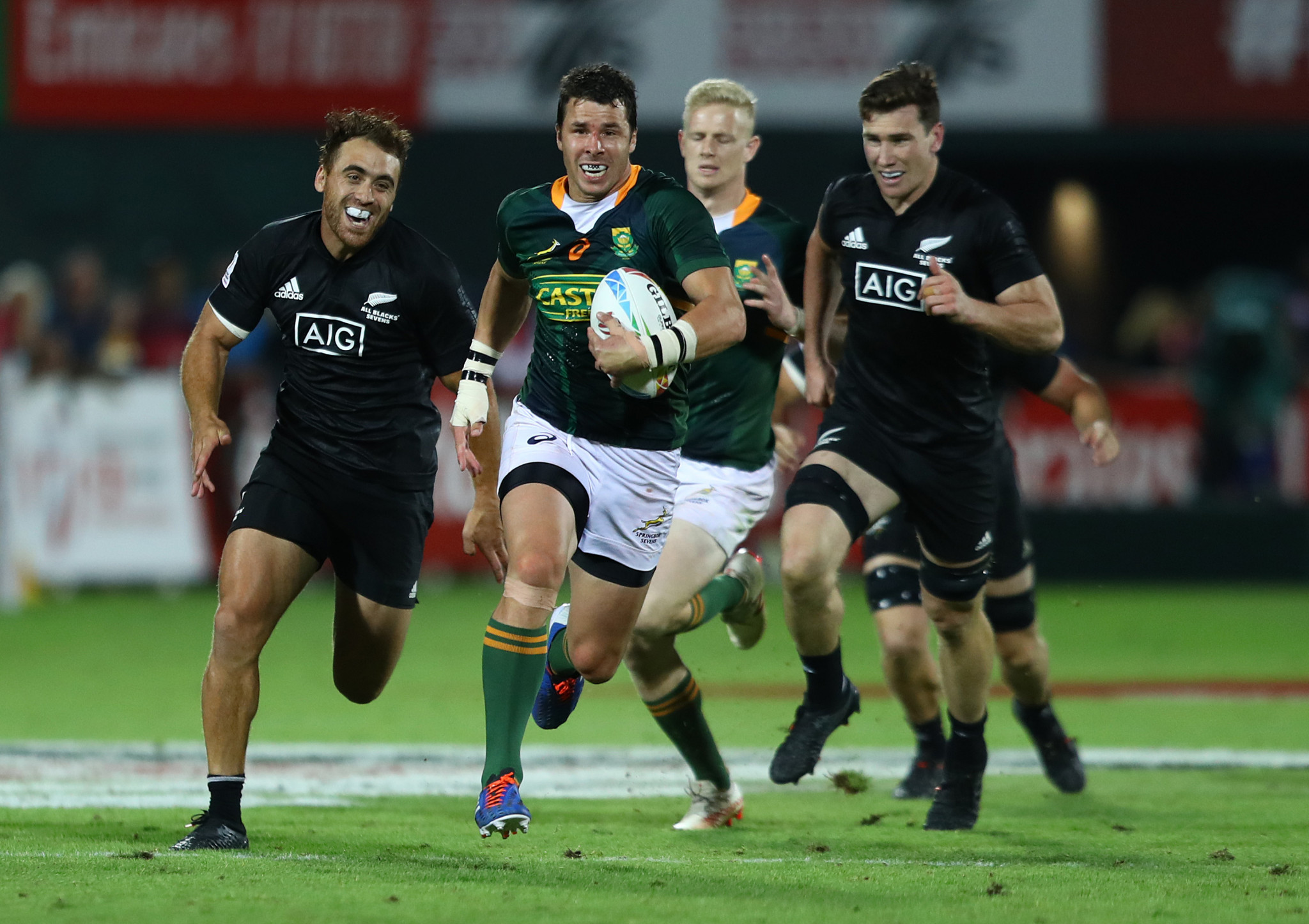 South Africa blitz New Zealand to win Dubai World Rugby Sevens Series