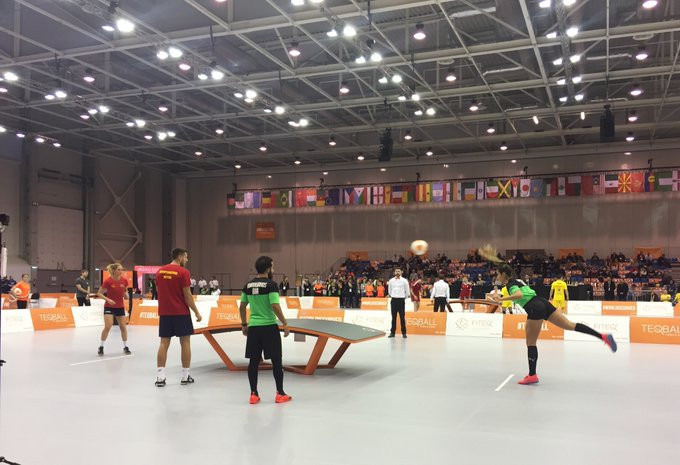 Meanwhile the finalists in the mixed doubles were decided, with Natalia Guitler and Marcos Viera of Brazil reaching the gold-medal match ©ITG