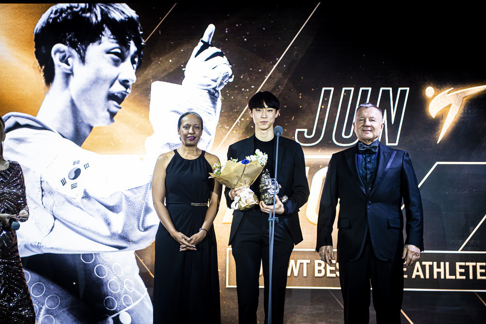 South Korea's Jun Jang was named the male athlete of the year at the World Taekwondo Gala Awards ©World Taekwondo