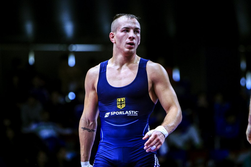 Frank Staebler made a winning return to action in the under 71kg Greco Roman event ©UWW/Martin Gabor
