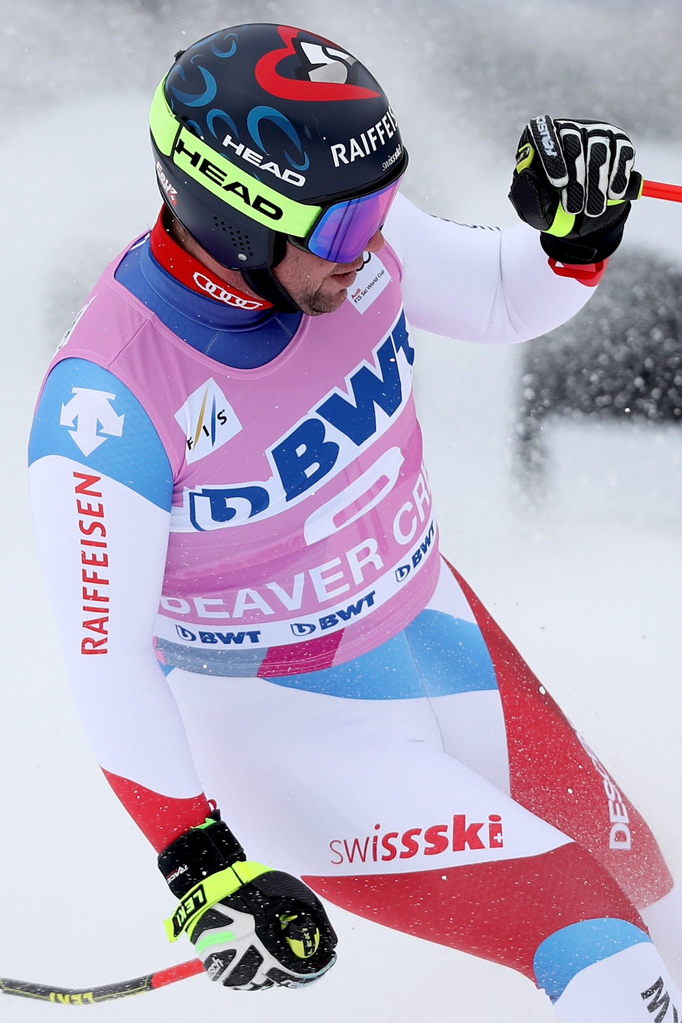 Switzerland's Beat Fuez wins the downhill title at the FIS Alpine World Cup in Beaver Creek ©Getty Images