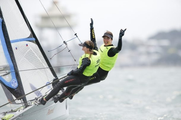 Annemiek Bekkering and Annette Duetz of The Netherlands made a successful defence of their 49erFX world title ©World Sailing