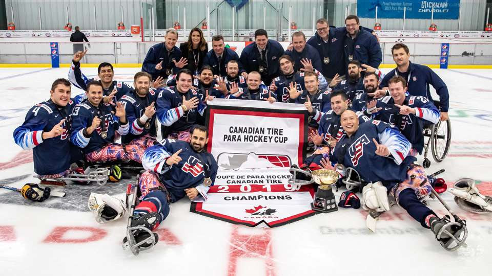 United States beat Canada to earn sixth consecutive Para Hockey Cup title