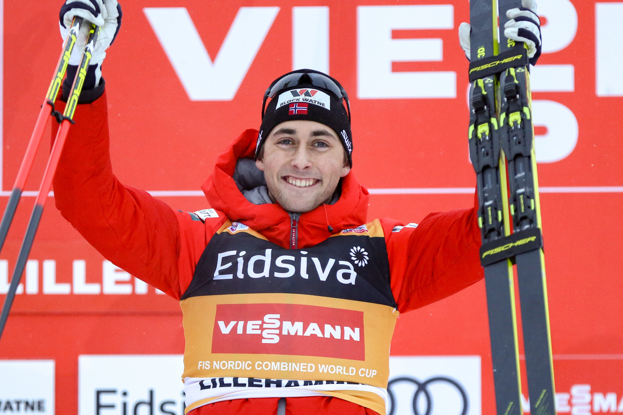 Riiber makes it five wins in a row on FIS Nordic Combined World Cup tour