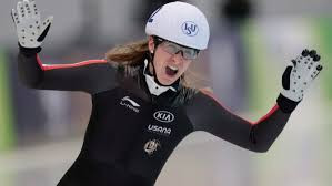 Ivanie Blondin of Canada won two gold medals at the ISU Speed Skating World Cup event in Nur-Sultan ©Canadian Olympic Committee