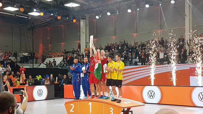 Double delight for Blázsovics at Teqball World Championships