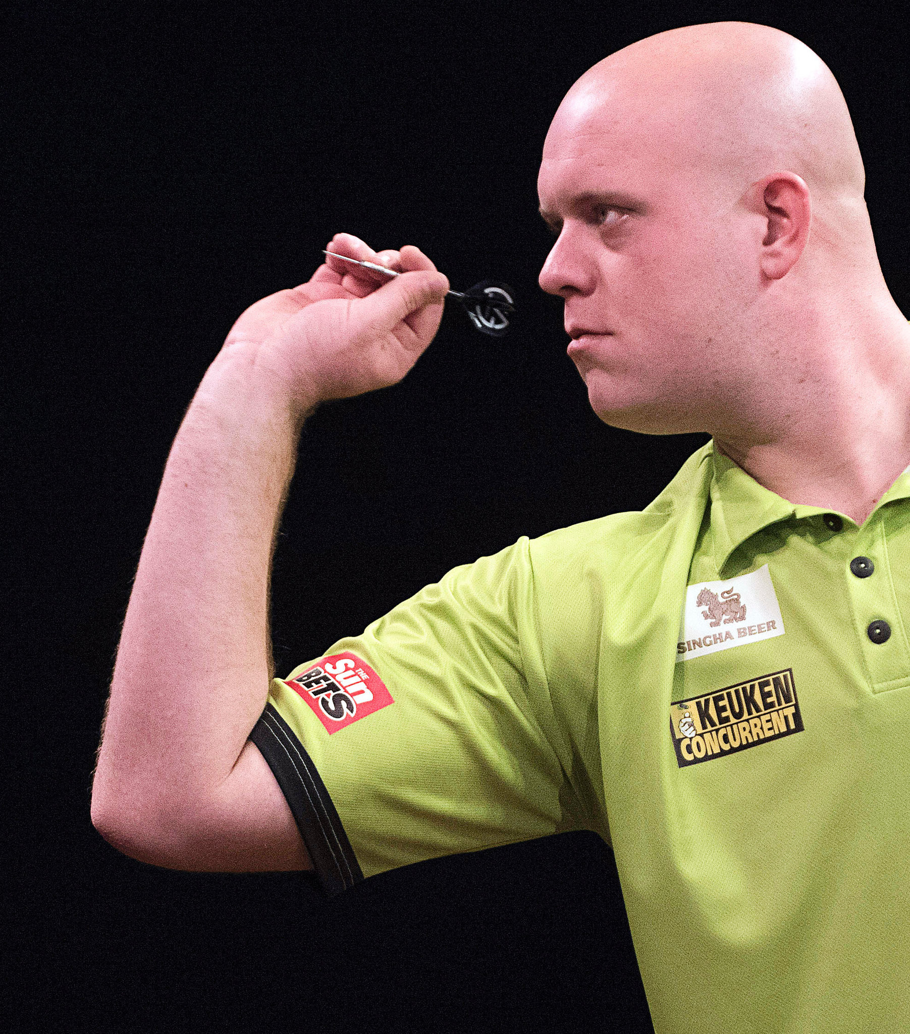 The Netherlands' PDC world champion Michael Van Gerwen backs a darts Olympic bid ©Getty Images