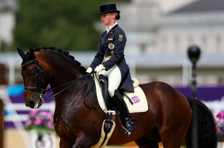 Home rider Victoria Max-Theurer took third place at the event in Salzburg ©Getty Images