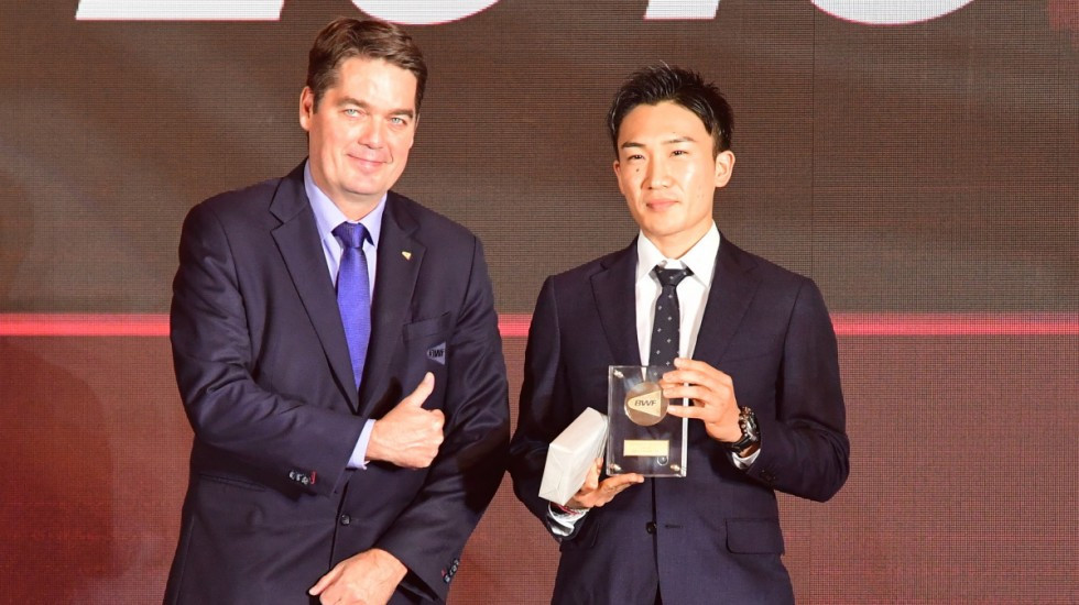 World champion Kento Momota has won the BWF Male Player of the Year Award ©BWF