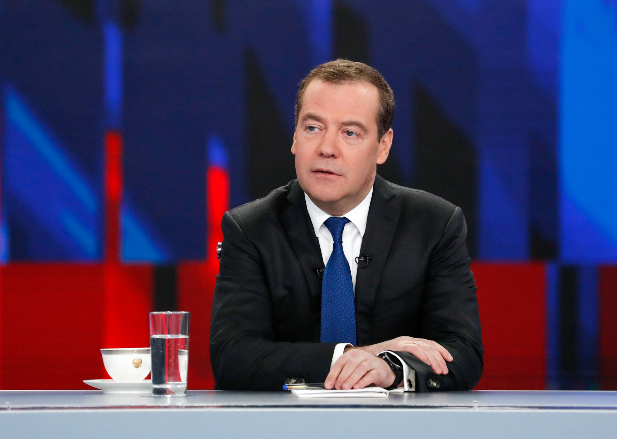 Russia's Prime Minister Dmitry Medvedev has claimed the decision by WADA to ban the country is another example of them being targeted by the West ©Getty Images