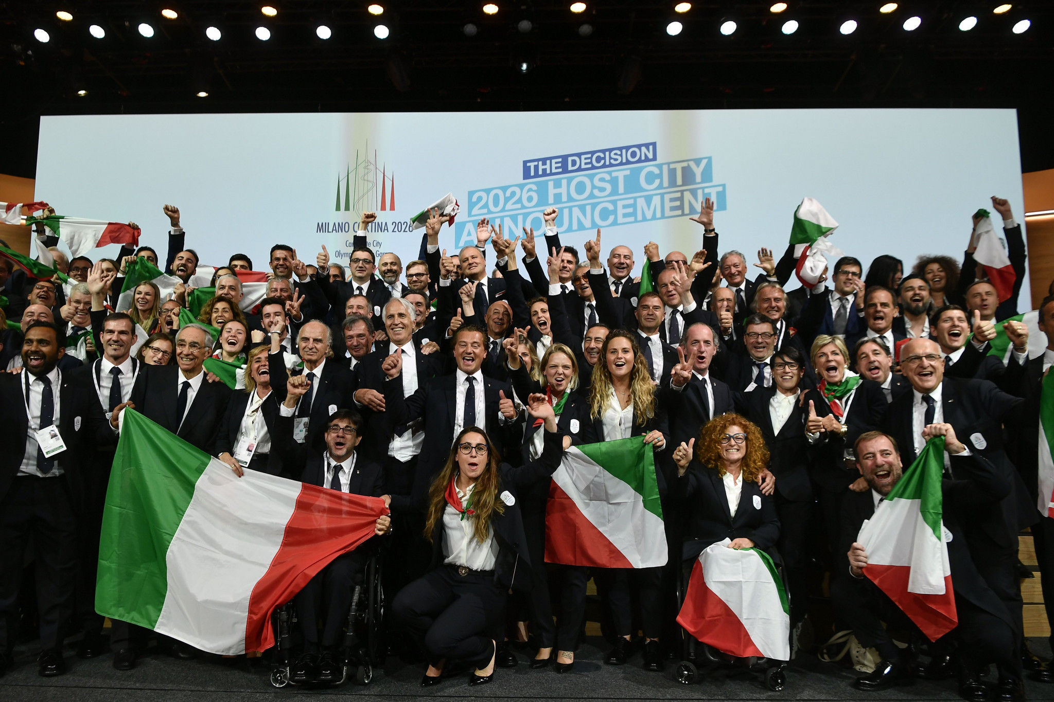 Milan Cortina 2026 has founded its Organising Committee after being awarded the Olympic and Paralympic Games in June ©Getty Images