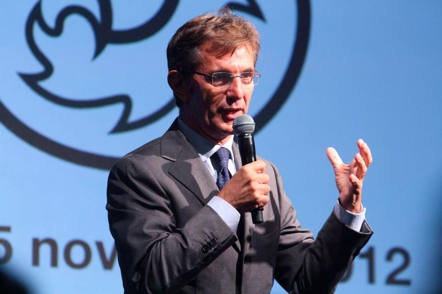 Vincenzo Novari was named chief executive of Milan Cortina 2026 last month ©Milan Cortina 2026