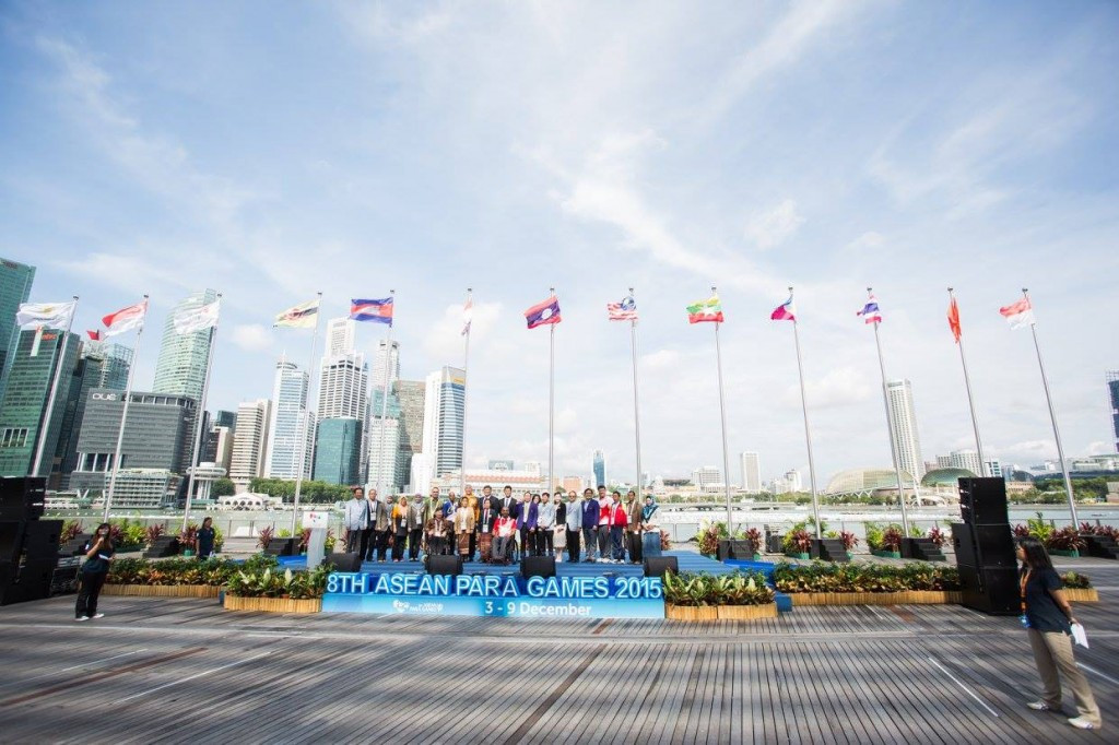 Singapore 2015 welcome ASEAN Para Games athletes with Village ceremony