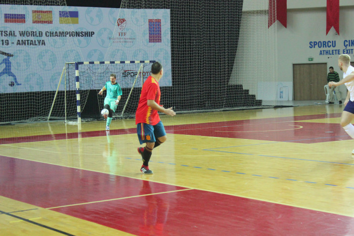Spain defeated Japan at the IBSA Partially Sighted Football World Championship ©Futsal Turkey