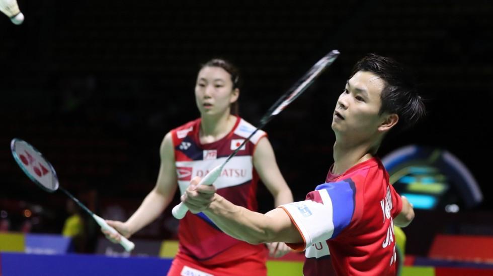 Japan's Yuta Watanabe and Arisa Higashino earned a shock win over China's world champions Huang Ya Qiong and Zheng Si Wei on the opening day of the BWF World Tour Finals in Guangzhou ©BWF