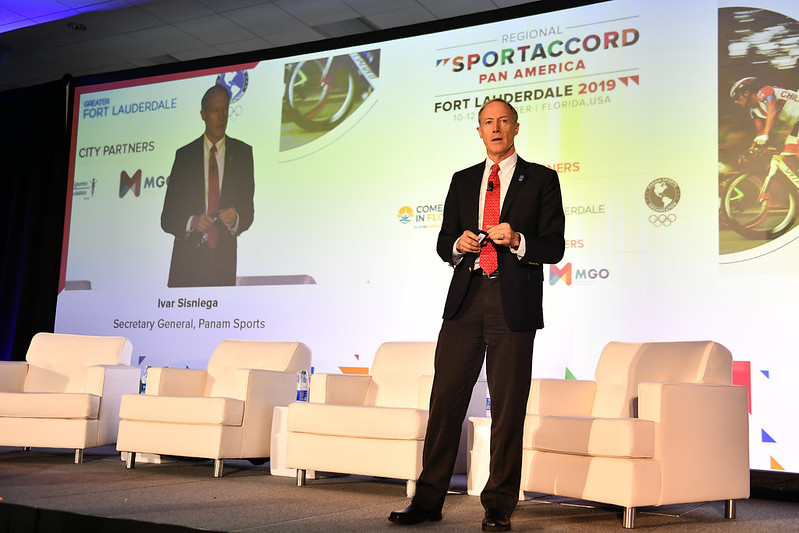 Panam Sports secretary general Ivar Sisniega presented on the organisation's plans ©SportAccord