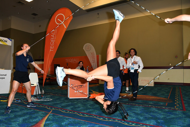 Various federations showcased their sports in the exhibition hall ©SportAccord